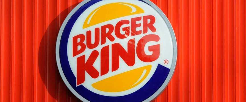 Burger King жареный пламенем гамбургер