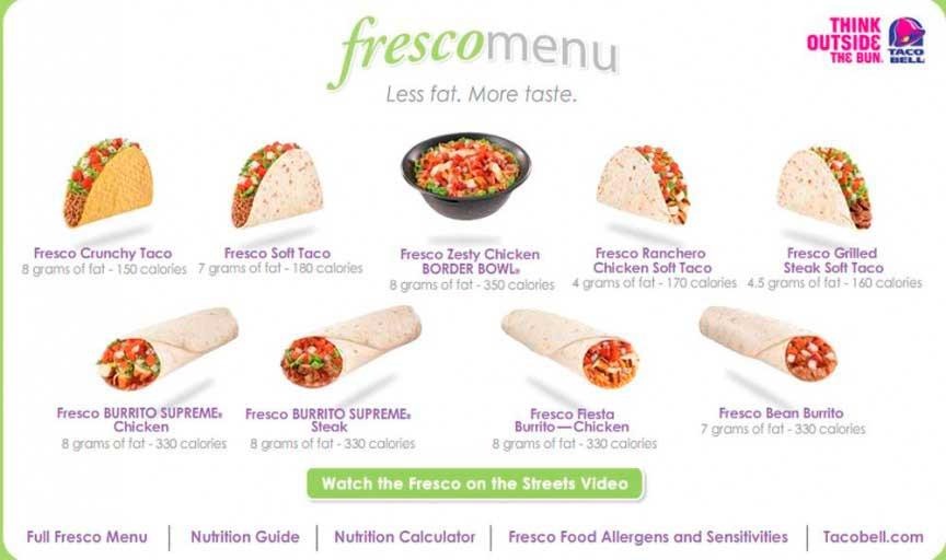 Taco Bell Fresco жареный стейк в мягком тако