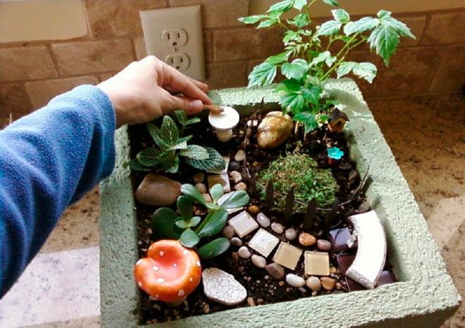 Волшебный сад из шлакоблока