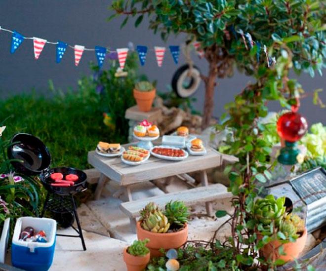 4-го июля BBQ волшебный сад