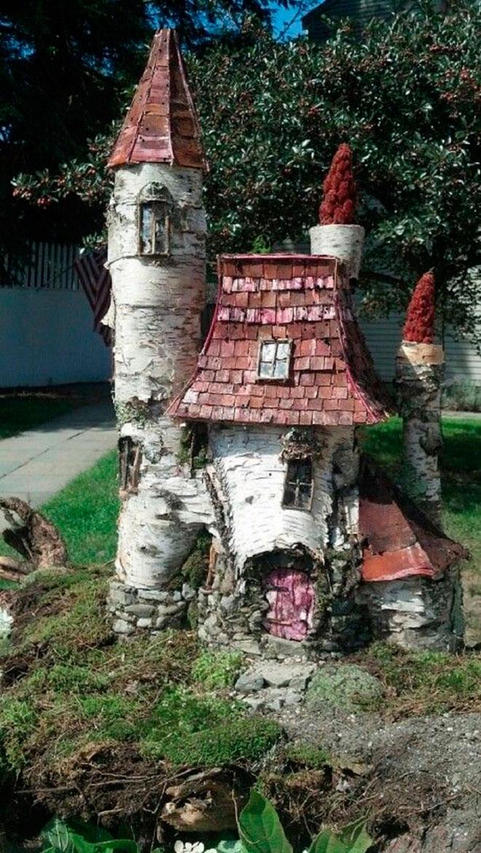 Дом из подстриженных деревьев