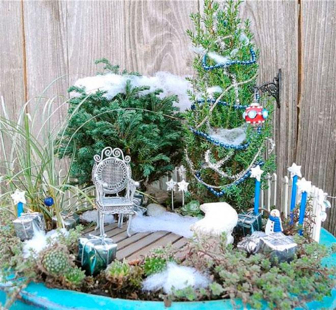 Снег в волшебном саду