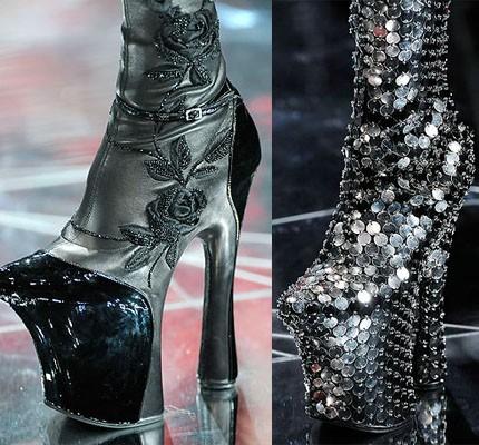 Alexander McQueen, сапоги на платформе, цена неизвестна