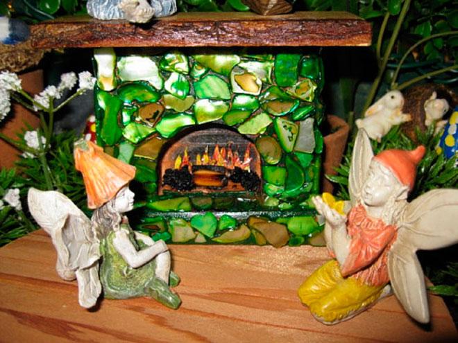 Камин в волшебном саду