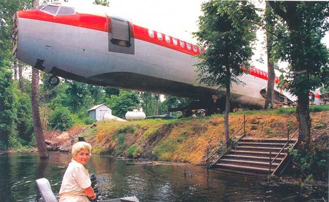 Дом - самолет – Озеро Уиттингтон, Миссисипи, США